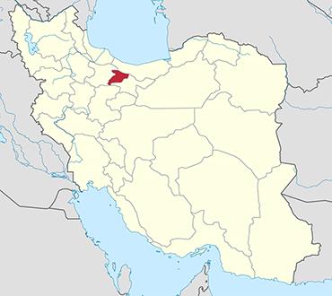 مکان استان البرز روی نقشه