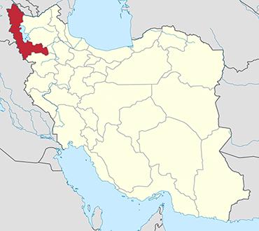 مکان استان آذربایجان غربی روی نقشه
