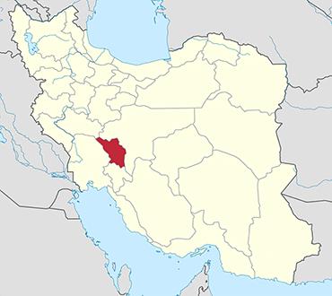 مکان استان چهارمحال و بختیاری روی نقشه