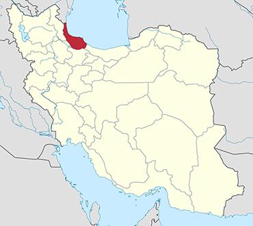 مکان استان گیلان روی نقشه