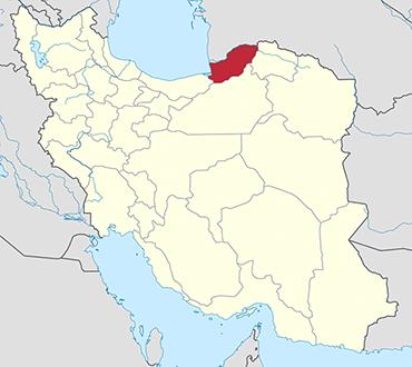 مکان استان گلستان روی نقشه
