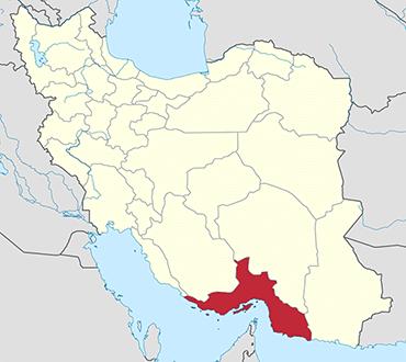 مکان استان هرمزگان روی نقشه