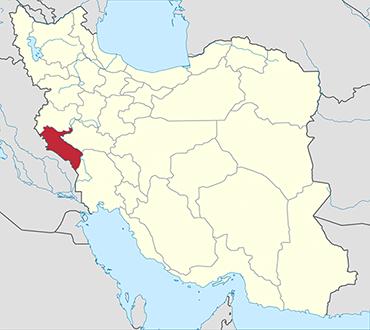مکان استان ایلام روی نقشه