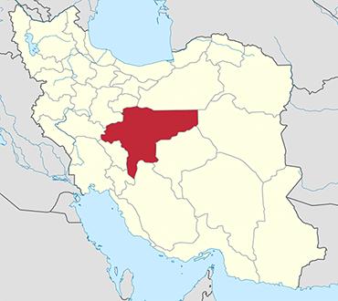 مکان استان اصفهان روی نقشه
