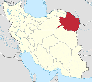 مکان استان خراسان رضوی روی نقشه