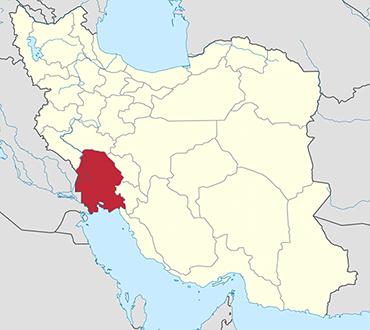 مکان استان خوزستان روی نقشه