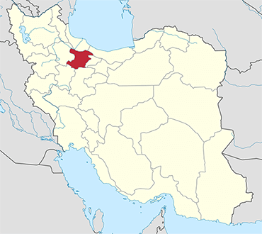 مکان استان قزوین روی نقشه