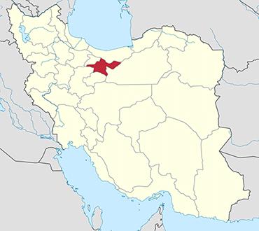 مکان استان تهران روی نقشه